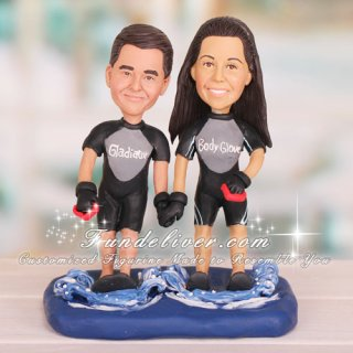 Water Skiing Skier Wedding Cake Toppers