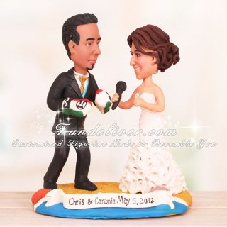 boxing wedding cake toppers boxer and singer wedding cake toppers two custom 12112