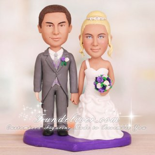 Traditional Bride and Groom Cake Toppers and Decorations
