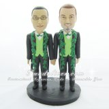 Same Sex Wedding Cake Toppers, Two Grooms Cake Toppers, Homosexual Cake Toppers