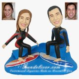 Surfer Wedding Cake Toppers, Surfboard Cake Toppers