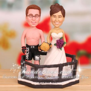 Mixed Martial Arts Fighter Cake Toppers