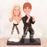 Guarding Stance Martial Arts Wedding Cake Toppers