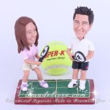 Tennis Players Wedding Cake Toppers