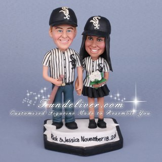 White Sox Wedding Cake Toppers, Chicago White Sox Decorations