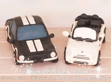 mini cooper wedding cake topper mini cooper and ford maverick car wedding cake toppers 17393