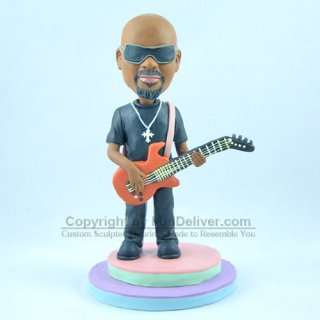 Personalized Guitar Player gifts with Mini Guitar and Stage