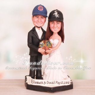 Marquette University MU Basketball Wedding Cake Toppers