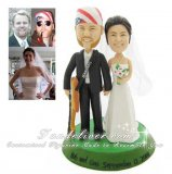 Guitar Player Cake Topper in Tux and Wedding Gown