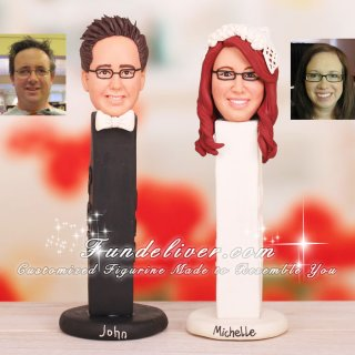 Bride and Groom Pez Dispensers Cake Toppers