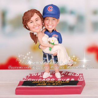 Chicago Cubs Wrigley Field Marquee Sign Cake Toppers