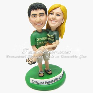 Sport Wedding Cake Toppers, Swimming Theme Wedding Cake Toppers