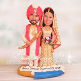 Indian Cake Topper with Tikka, Bangles, Kaleeray, Duputta, Kirpan etc.