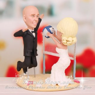 Sand Volleyball Wedding Cake Toppers