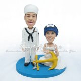 Navy Wedding Cake Toppers, Navy Cake Topper