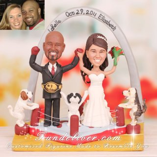 Boxing Boxer Wedding Cake Toppers