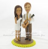 Musicians Wedding Cake Toppers, Musician Bride and Groom Cake Toppers