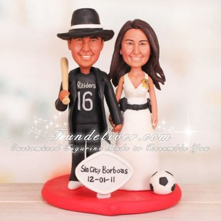 Corrections Officer Wedding Cake Toppers
