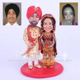 Sikh Tradition Indian Wedding Cake Toppers