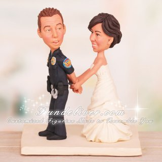 """You are under arrest for stealing my heart."" Funny Police Cake Topper"