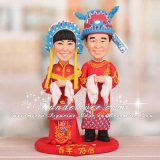 Chinese Cake Toppers with Phoenix and Dragon Embroidery