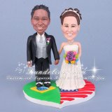 Ethnic Cake Toppers for Couples with Different Nationalities and Races
