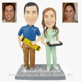 Construction Worker, Architect, Builder and Nurse Theme Wedding Cake Toppers