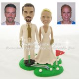 Golf Wedding Cake Toppers, Golf Cake Toppers