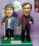 50th Wedding Anniversary Table Tennis Ping Pong Theme Cake Toppers