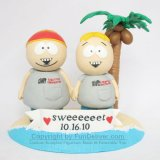 South Park Character Cartman & Butters Wedding Cake Topper