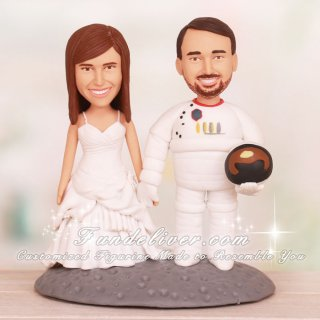 Love on The Moon Wedding Cake Toppers