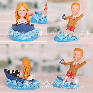 Speed Boat Wakeboarding Cake Toppers