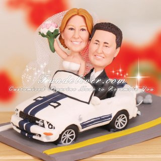 Ford Mustang Shelby GT500 Wedding Cake Toppers