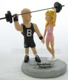 Work Out Theme Cake Toppers, Weight Lifting Wedding Cake Tops