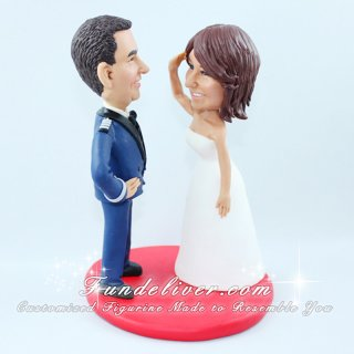 Air Force Wedding Cake Topper with Air Force Mess Dress Uniform