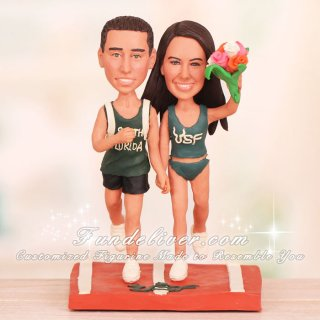 University of South Florida USF Runner Wedding Cake Toppers