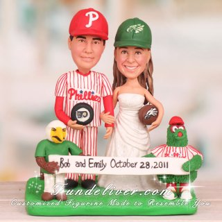 Philadelphia Eagles Cake Topper with the Mascot Swoop