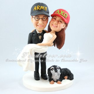 Army and Bride Wedding Toppers, Army Officer Wedding Cake Toppers