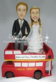 London Double Decker Bus Cake Toppers, London Themed Wedding Cake Toppers
