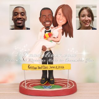 Villanova University Running Theme Wedding Cake Toppers