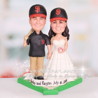 San Francisco SF Giants Wedding Cake Topper