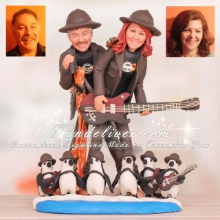 South African Jackass Penguin Safari Wedding Cake Toppers