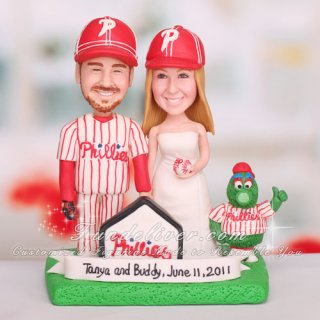 Philadelphia Phillies Baseball Cake Topper with Philly's Fanatic