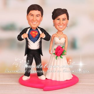 Movie Character Superman Wedding Cake Toppers