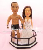MMA Fighter Wedding Cake Toppers, Combat Sport Wedding Cake Toppers
