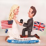 Propose on the Beach Wedding Cake Toppers