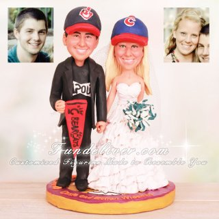 Olivet Nazarene University Theme Sport Wedding Cake Toppers