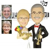 50th Anniversary Gifts, Custom 50th Music Theme Anniversary Cake Toppers