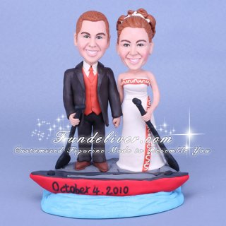 Boat Cake Topper, Boat Theme Wedding Cake Topper