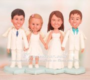Four Angels Christening Cake Toppers